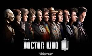 "All reincarnations of the Doctor - special poster promoting  a special anniversary episode entitled ""The Day of the Doctor"""