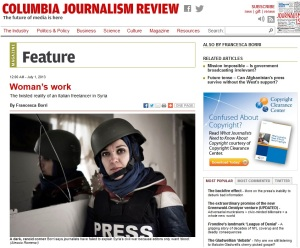 Francessca Borri in Columbia Journalist Review