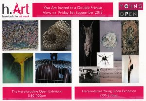 h.Art Herefordshire Open Exhibition leaflet - front