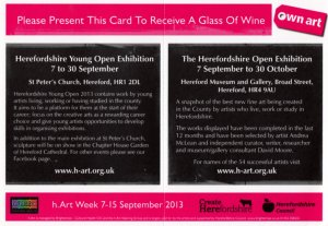 h.Art Herefordshire Open Exhibition leaflet - back