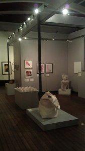 Plaster sculpture Essentials by Jeremy Stiff being displayed at HOE
