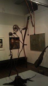 "Steel kinetic sculpture ""Fleeting moment"" by Simon Meiklejohn in motion"