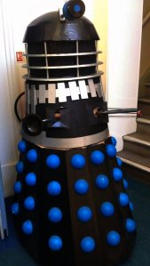 Dalek guarding the entrance to the Shire Hall. It doesn't matter if you have a ticket or not. All shall be exterminated!
