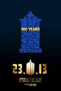 "Poster promoting 50 years celebration episode ""The Day of The Doctor"" broadcasted on 23rd of November 2013"