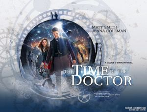 "Christmas poster with the title: the last episode is entitled ""The Time of The Doctor"""