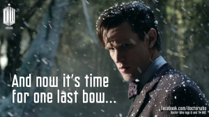 Matt Smith's as the 11th Doctor  walking around a town called Christmas... that will not end well