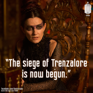 Irish actress Orla Brady as galactic nun Tasha Lem.  Despite the popular belief, the quote is grammatically correct