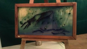 Claire Water's artwork during Worcester Christmas Fayre