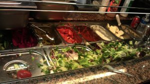 Salad bar at Pomegranate stand