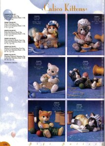 Callico Cats collection in 1998. Those beautiful figurines are now considered vintage and  very sought after.