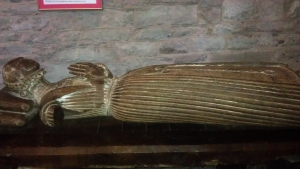 A full view of the only remaining figure from the tomb of Gam Family