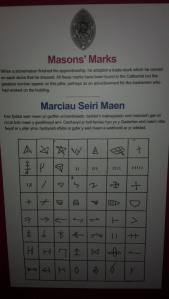 Markings left by stone masons