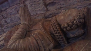 More detailed look at Margaret Williams' effigy