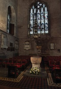 Brecon Cathedral - The Baptistry at the west end. Photography by R.J.L Smith. Used with permission