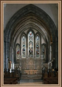 Brecon Cathedral - The east end of the Cathedral. Photography by R.J.L Smith. Used with permission