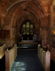 Brecon Cathedral - the St Lawrence Chapel today.  Photography by R.J.L Smith. Used with permission