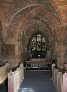 Brecon Cathedral - the St Lawrence Chapel just after being re-ordered in 1993.  Photography by R.J.L Smith. Used with permission