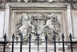 Coat of Arms at at the Main Entrance to The Tower of London