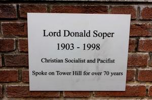 The Memorial dedicated to Lord Donald Soper