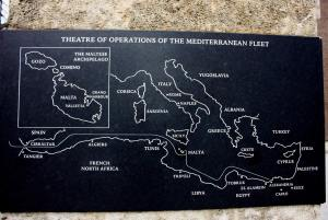 Map of Mediterranean during WWII