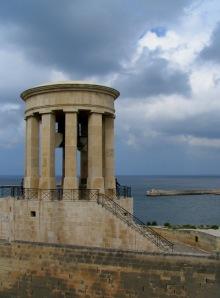 Siege Bell Memorial in Valletta, Malta