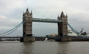 Tower Bridge as seen from River Thames