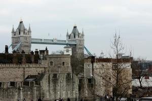 Tower Hill panorama with The Tower Bridge.