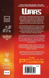 Back cover of WARS: The Battle of Phobos (Vol.2) - Stretti You can purchase a copy at: http://www.amazon.co.uk/WARS-Battle-Phobos-Vol-2-Stretti/dp/0615798543