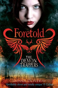 The last book in the series is called Foretold. Order your copy at: http://www.amazon.co.uk/The-Demon-Trappers-Jana-Oliver/dp/1447216067/