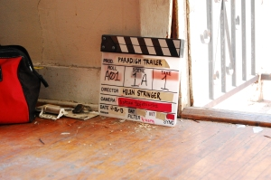 Paradigm trailer clapperboard - picture by Katie Ferguson