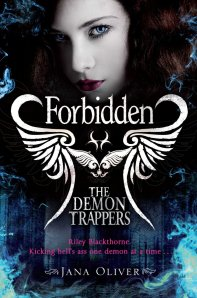 The Demon Trappers Part Deux: Forbidden. You can purchase a copy at: http://www.amazon.co.uk/The-Demon-Trappers-Jana-Oliver/dp/0330519484/