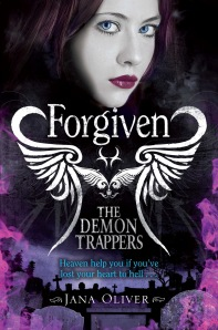 The Demon Trappers series part three entitled Forgiven. You can purchase a copy here: http://www.amazon.co.uk/The-Demon-Trappers-Jana-Oliver/dp/0330519492/