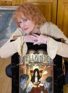 "Helen Stringer and  the American cover of the ""Spellbinder"" novel (aka The Last Ghost in the UK)"