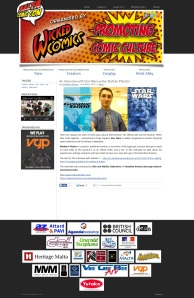Malta Comic Con website feature  as seen on March 24, 2014