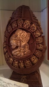 One of the most expensive chocolate eggs on display - this Aztec inspired  masterpiece could be  yours for only 50 pounds