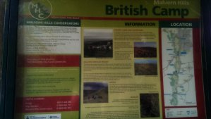 British Camp Information board