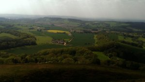 Beautiful view from the top on Herefordshire and Worcestershire