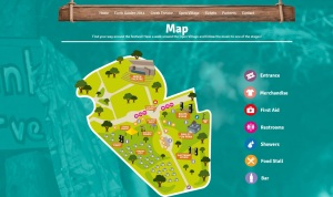 Map of the Festival grounds. You can see the Ethnic Market location in case you need to get to the Cat Shop!