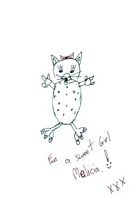 A cute cat drawn by Mahii