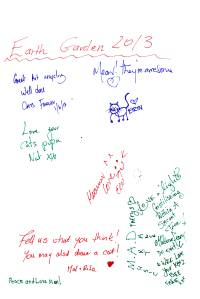 Page full of comments - straight out of the guestbook!