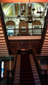 The famous main staircase inside the hotel