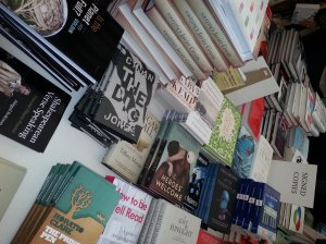 signed books available for purchase at the  festival book superstore