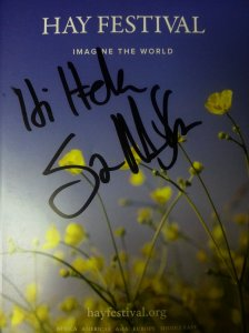 An autograph for our friend, successful British author and scriptwriter herself - Helen Stringer