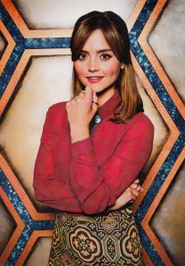 Jenna coleman as Clara Oswald on doctor Who World Tour character card