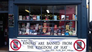 Kindles are banned
