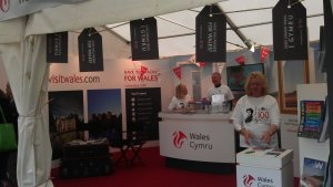 Visit Wales exhibitor stand