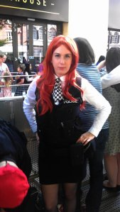 Nadine posing as Amelia Pond