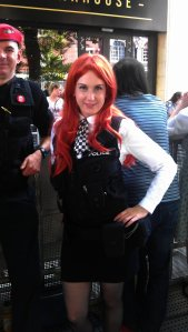 Amy Pond and UNIT officer