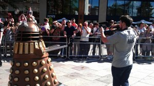Stop filming and run or you will be exterminated!