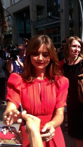 Jenna signing autograph for us as well - we were lucky!